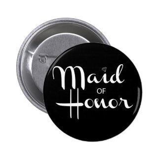 Maid of Honor Retro Script 2 Inch Round Button