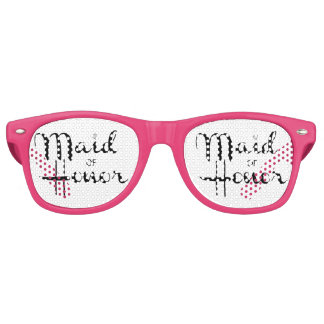 Maid of Honor Retro Script Party Sunglasses
