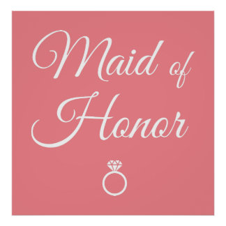 Maid of honor ring poster