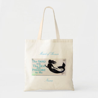 Maid of Honor sand and sea mermaid Tote Bag