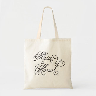 Maid of Honor Script Bachelorette Tote Bag