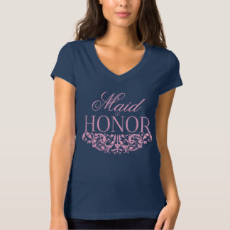 Maid of honor t-shirt Wedding t-shirt pink