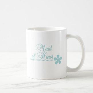 Maid of Honor Teal Elegance Coffee Mug
