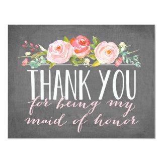"Maid of Honor Thank You   Bridesmaid 4.25"" X 5.5"" Invitation Card"