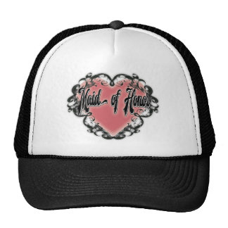 maid of honor vintage heart tattoo trucker hat