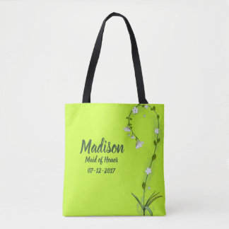 Maid of Honor Wedding Party Tote Gift Bag