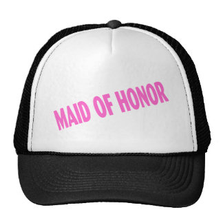Maid of Honor Wedding Pink Mesh Hats