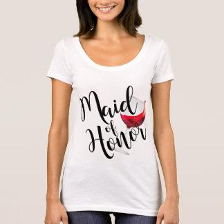 Maid of Honor Wine T-Shirt