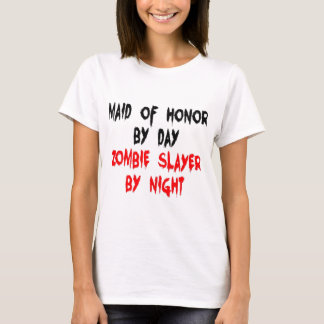 Maid of Honor Zombie Slayer T-Shirt