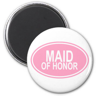 Maid of HonorWedding Oval Pink Magnet