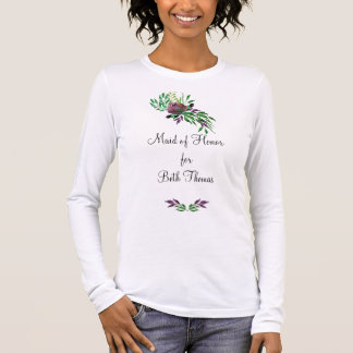 Maid of Honour Bridesmaid Bride Long Sleeve Long Sleeve T-Shirt