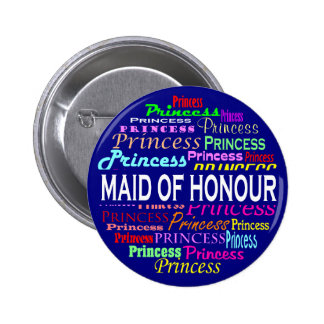 Maid of Honour Button (Canadian Spelling)