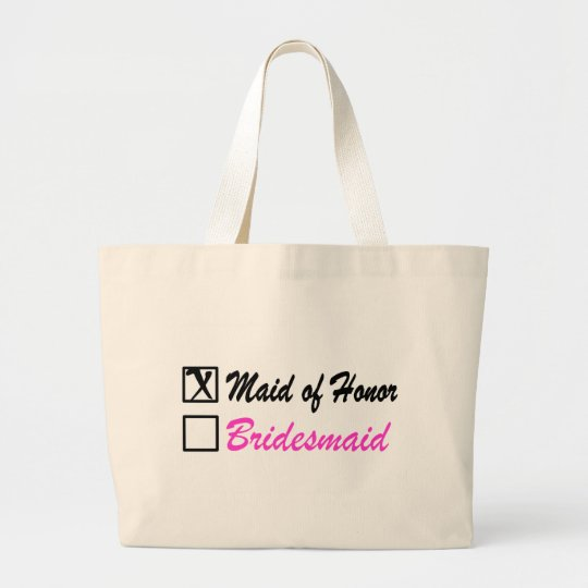 Maid of Honour (Bx) Large Tote Bag