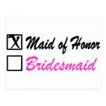Maid of Honour (Bx) Postcard
