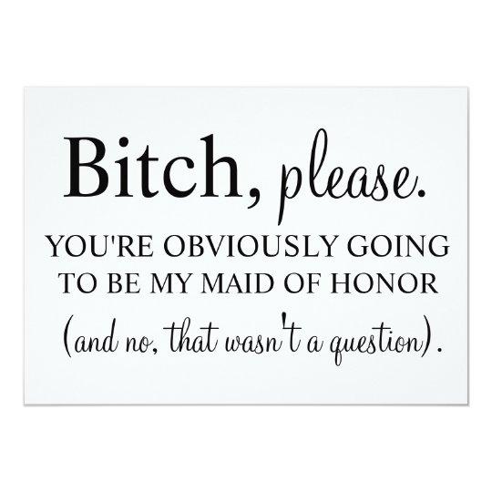 Maid of Honour Card