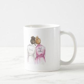 Maid of Honour? Dark Br Bun Bride Dk Bl Bun Maid Classic White Coffee Mug