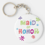 Maid of Honour Favours Basic Round Button Keychain