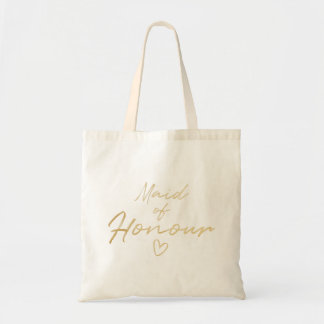 Maid of Honour - Gold faux foil tote bag