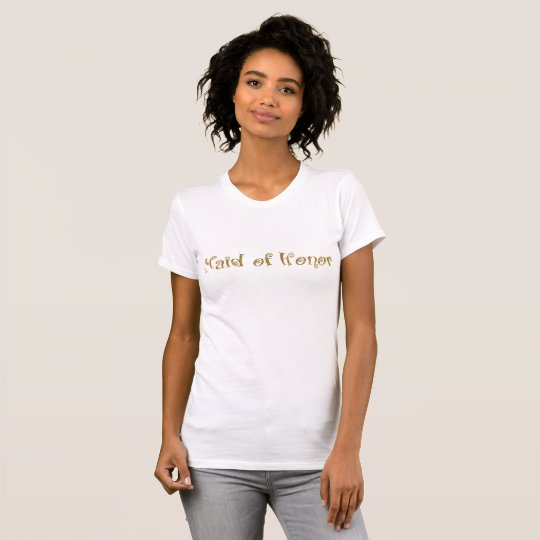 Maid of Honour Gold Glitter T-Shirt