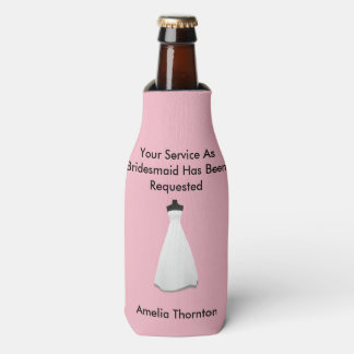 Maid of Honour or Bridesmaid Invite Bottle Cooler