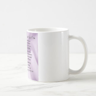 Maid of Honour Poem - Lilac Silk design Coffee Mug