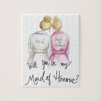 Maid of Honour? Puzzle Bl Bun Bride Bl Bun Maid