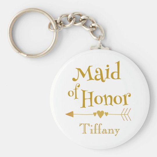 Maid of Honour Wedding Gifts Keychain