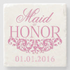 Maid of Honour wedding stone coasters Save the