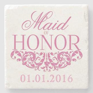 Maid of Honour wedding stone coasters Save the Stone Coaster
