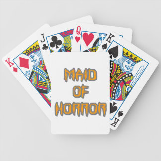 Maid of Horror Bicycle Playing Cards