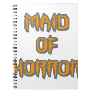 Maid of Horror Spiral Notebook