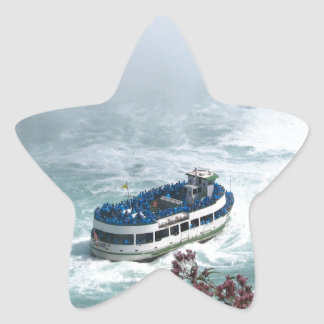 Maid of the Mist boat at Niagara Falls, Canada Star Sticker