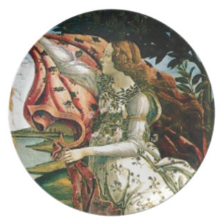 maiden in dress laundry plate