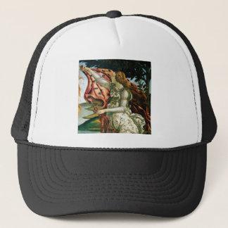 maiden in dress laundry trucker hat