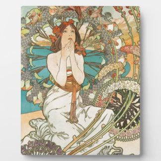 Maiden in Prayer Plaque