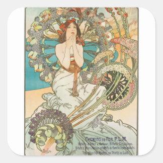 Maiden in Prayer Square Sticker