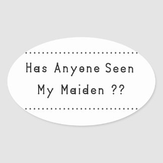 Maiden Oval Sticker