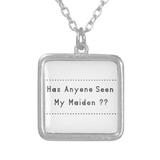Maiden Silver Plated Necklace