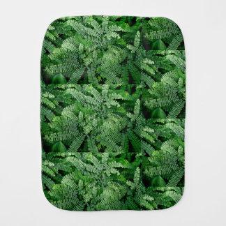 Maidenhair Ferns for baby: Burp Cloth