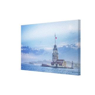 Maiden's Tower, Istanbul. Canvas Print