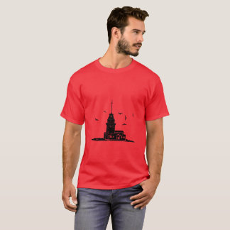 Maiden's Tower Red T-Shirt for Men