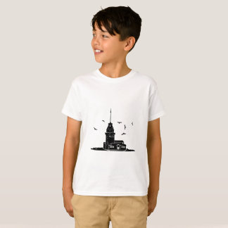 Maiden's Tower White T-Shirt for Kids