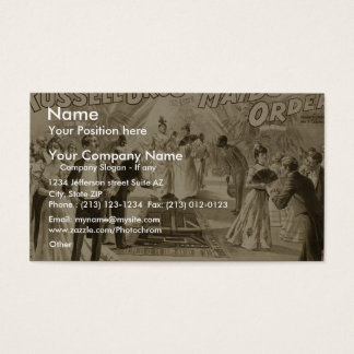 Maids to Order, by 'Russell Bro' Retro Theater Business Card