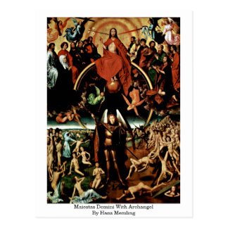 Maiestas Domini With Archangel By Hans Memling Postcard