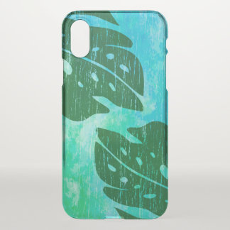 Maikai Hawaiian Monstera Leaf Tie-Dye Blend Green iPhone X Case