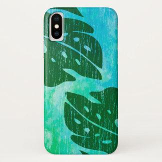 Maikai Hawaiian Monstera Leaf Tie-Dye Blend iPhone X Case