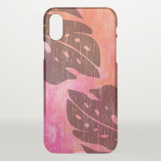 Maikai Hawaiian Monstera Leaf Tie-Dye Blend Pink iPhone X Case