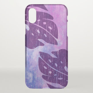 Maikai Hawaiian Monstera Leaf Tie-Dye Blend Purple iPhone X Case