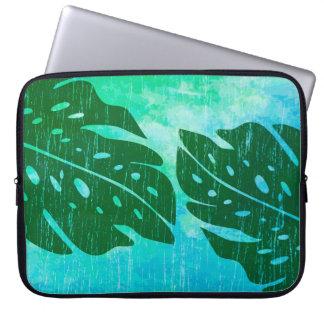 Maikai Hawaiian Monstera Leaf Tie-Dye Wetsuit Laptop Sleeve