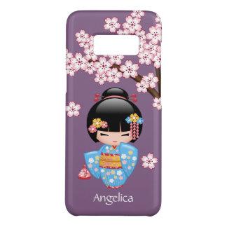 Maiko Kokeshi Doll - Blue Kimono Geisha Girl Case-Mate Samsung Galaxy S8 Case